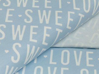 Sommer-Sweat - Love Cute Sweet - blau/weiß