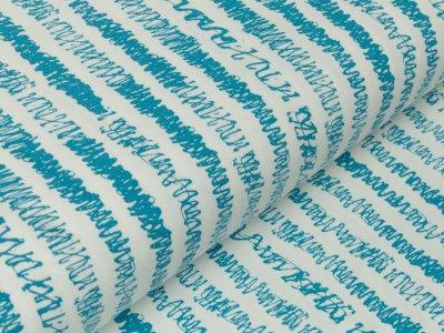 Jersey - Kritzelstriche - längs gestreift - blau/weiß