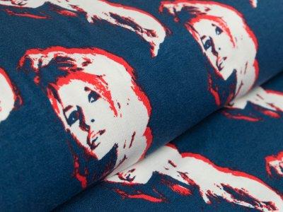 Sweat French Terry by Mies&Moos - Brigitte Bardot - dunkles blau