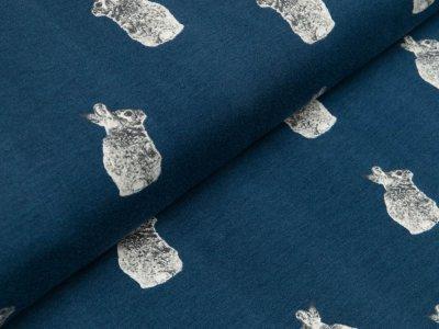 Jersey - niedliche Hasen - dunkles blau