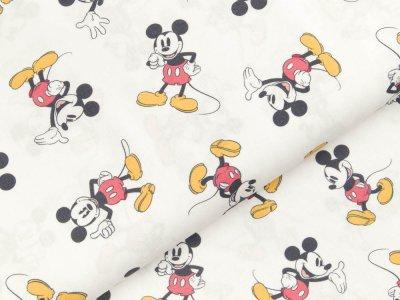 Disney-Popeline Baumwolle - Micky Mouse - weiß
