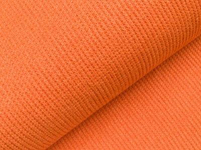 Viskose Rippstrick Jacquard-Jersey  - orange
