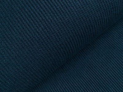 Viskose Rippstrick Jacquard-Jersey - denim blau