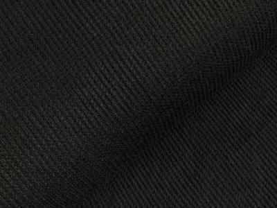 Viskose Rippstrick Jacquard-Jersey - schwarz