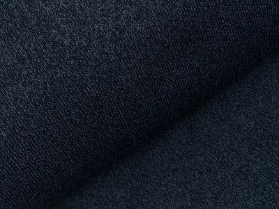 Strick mit Zottelfell - meliert dunkles blau