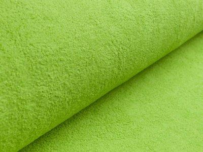Baumwollfleece - uni grün