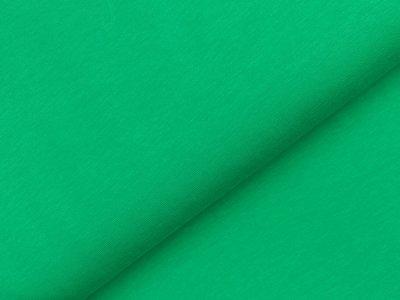 Leicht angerauter Sweat - uni waldgrün