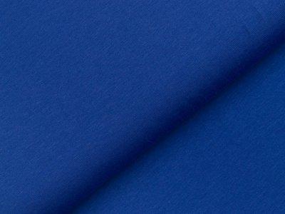 Leicht angerauter Sweat - uni kobaltblau
