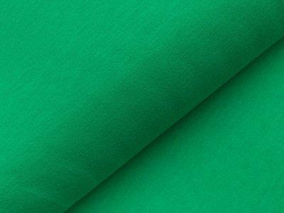 Glattes Bündchen im Schlauch - uni waldgrün