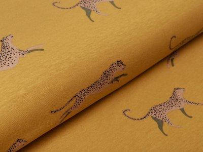 Sweat French Terry Ilja - Leoparden - ocker