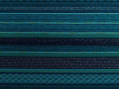 KDS Queen's Collection - Dekostoff mit Glitzerfäden - Streifenmuster - blau/grün