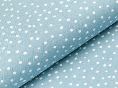 Jersey - Punkte - helles blau