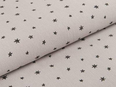 Gewebter Baumwollstoff Jenny- unregelmäßige Sterne - grau
