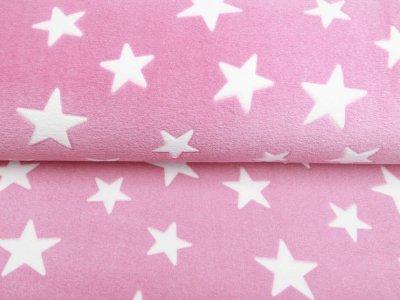 Wellnessfleece - Sterne - rosa