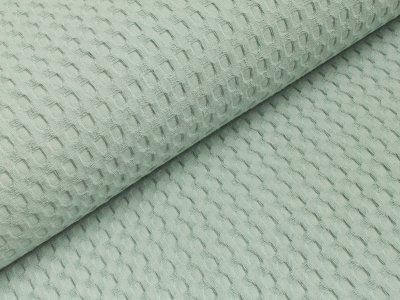 Waffelpiqué XL Baumwolle - uni mint