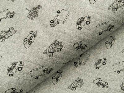 Jersey Rautenstepper - verschiedene Autos - meliert grau