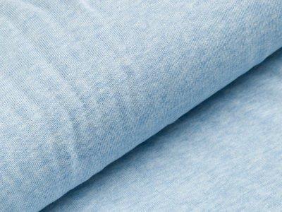 Baumwolle-Feinstrick Jersey - meliert blau