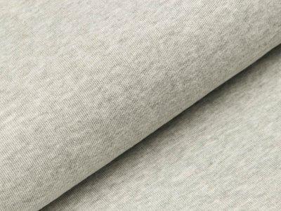 Baumwolle-Feinstrick Jersey - meliert grau