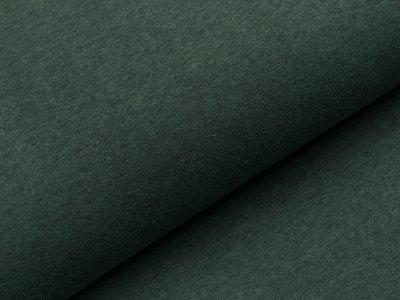 Angerauter Sweat - meliert dunkles grün