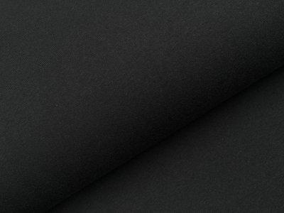 Angerauter Sweat - meliert schwarz