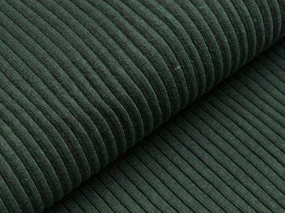Grobes Ripp-Strick Bündchen im Schlauch - meliert dunkles grün