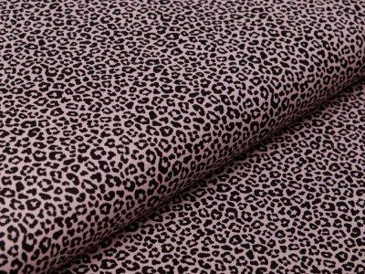 Webware Popeline Baumwolle - Animalprint Loepard - dunkles rosa