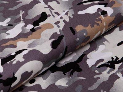 Webware Popeline Baumwolle - Camouflage - grau