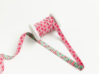 "Webband Farbenmix ""Jolly Cherry"" by Jolijou - Kirschen - pink"