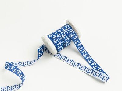 Webband Farbenmix - Anker - blau
