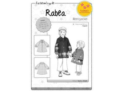 Schnittmuster RABEA Retrojacke Farbenmix