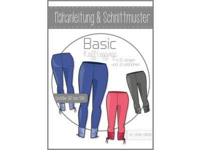 Papierschnittmuster ki-ba-doo BASIC Raff-Legging Damen
