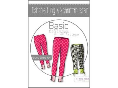 Papierschnittmuster ki-ba-doo BASIC Raff-Legging Mädchen