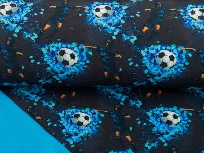 Jackenstoff Softshell 11 Freunde 1 Team by Katinoh - cooles Fußballspiel - schwarz