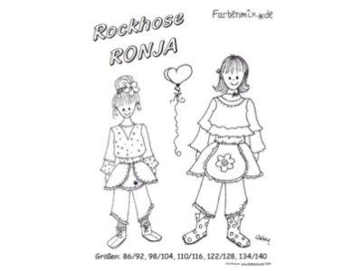 Schnittmuster RONJA Rockhose Farbenmix