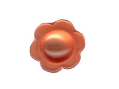 Knopf Roos Blume orange