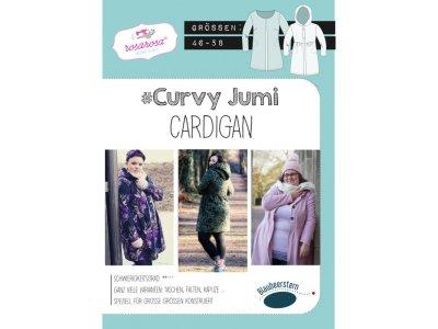 Papierschnittmuster Blaubeerstern RosaRosa Curvy Jumi-CARDIGAN - Damen