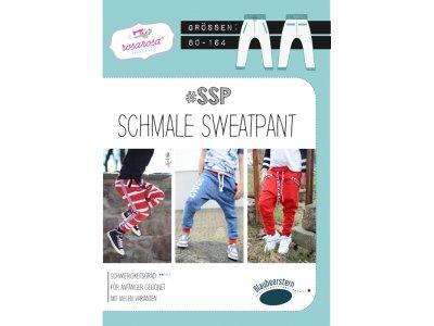 Papierschnittmuster Blaubeerstern RosaRosa SCHMALE-SWEATPANTS - Mädchen und Jungen