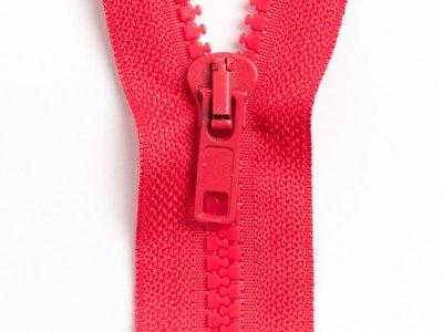 Reißverschluss teilbar 80 cm - rot