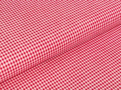 Webware Baumwolle - Vichy-Karo 2 x 2 mm - rot/weiß