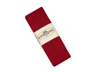Jersey Schrägband Oaki doki gefalzt 20 mm x 3 m  - rubinrot