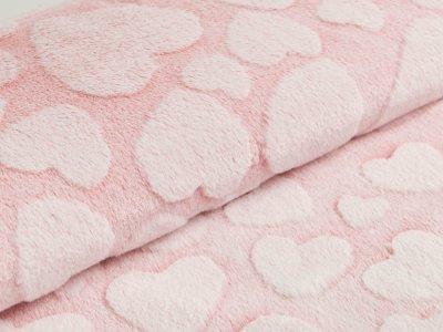 Wellnessfleece Snowtop - Herzen - pink