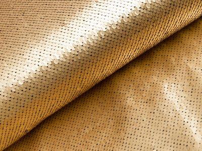 Jersey - Wendepailetten matt - gold/schwarz