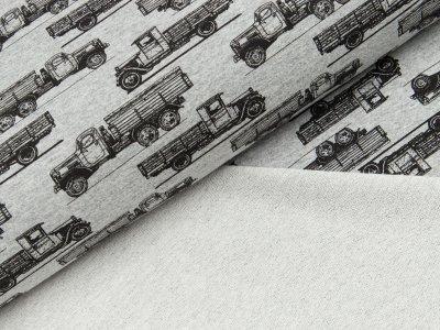 Sommer Sweat - Trucks - meliert helles grau