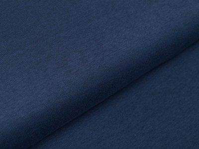 Elastischer Interlock Sanetta - uni jeansblau