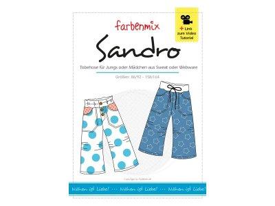 Schnittmuster SANDRO Tobehose für Jungen und Mädchen Farbenmix