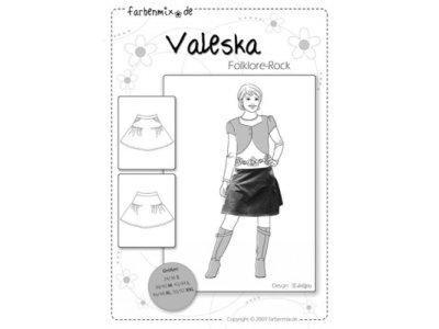Schnittmuster VALESKA Folklore-Rock Farbenmix