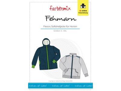 Papierschnittmuster Farbenmix Fleece-/Softshelljacke FEHMARN - Herren