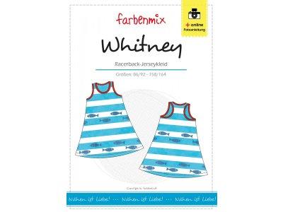 Papierschnittmuster Farbenmix Racerback-Jerseykleid WHITNEY - Mädchen