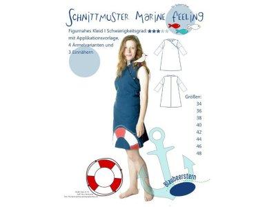 Papierschnittmuster Blaubeerstern Figurbetontes Kleid MARINE FEELING - Damen