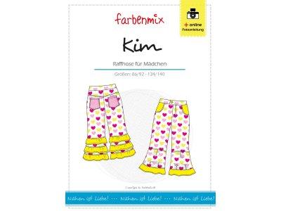 Papierschnittmuster Farbenmix Raffhose KIM - Mädchen